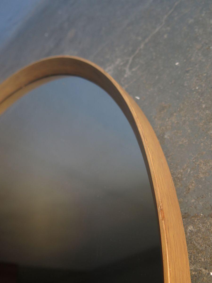 gro er vintage spiegel mit rahmen aus eiche 1970er bei pamono kaufen. Black Bedroom Furniture Sets. Home Design Ideas