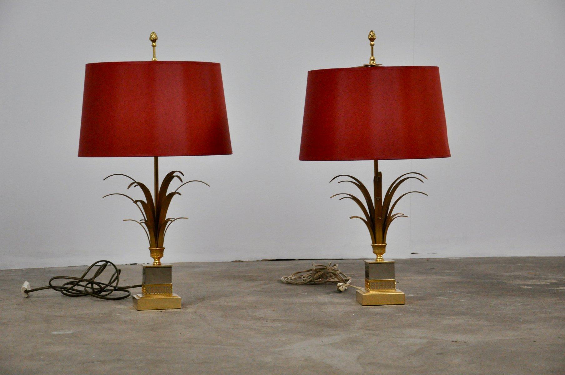 Lampen aus Messing, 1970er, 2er Set
