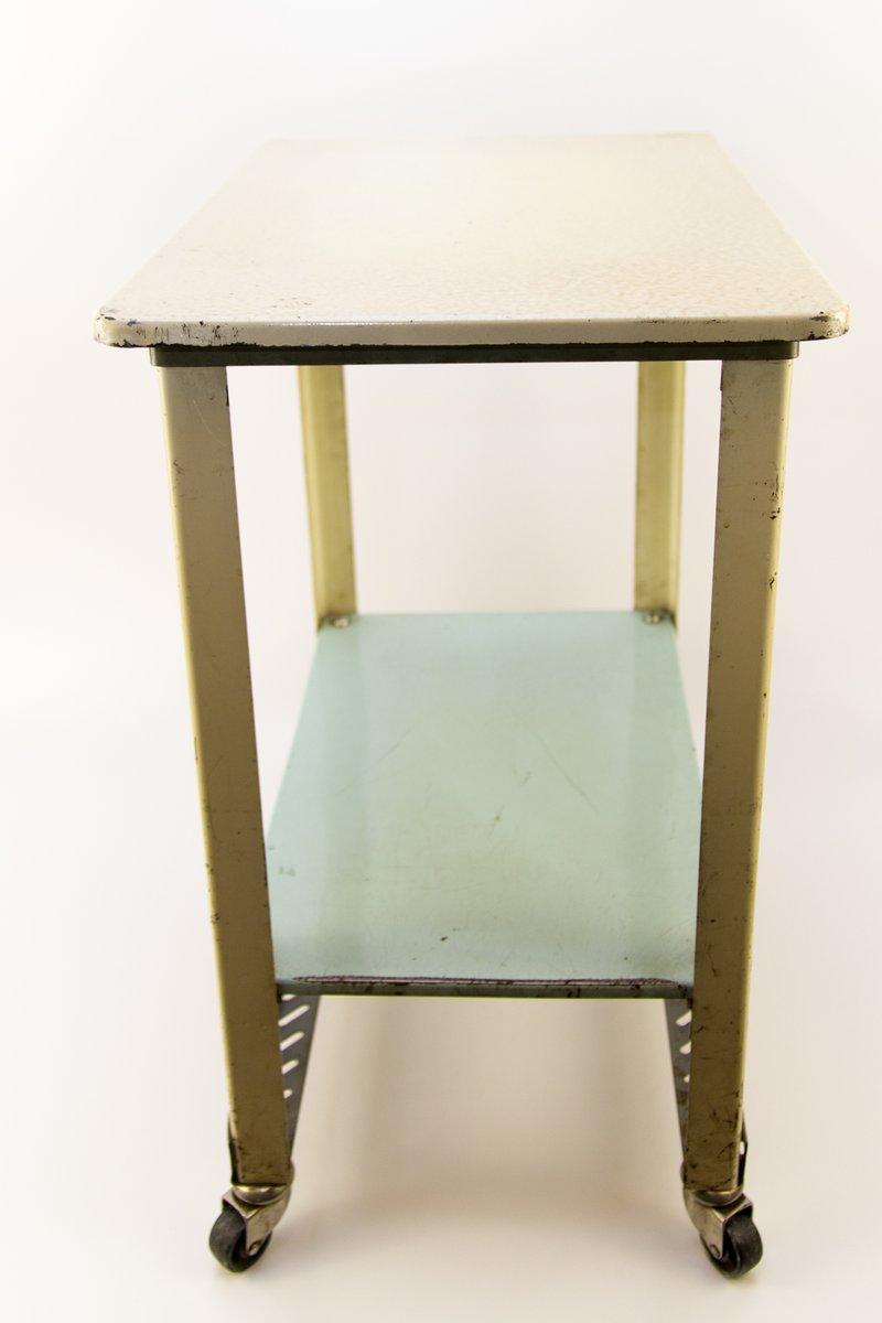 beistelltisch aus metall mit rollen 1970er bei pamono kaufen. Black Bedroom Furniture Sets. Home Design Ideas