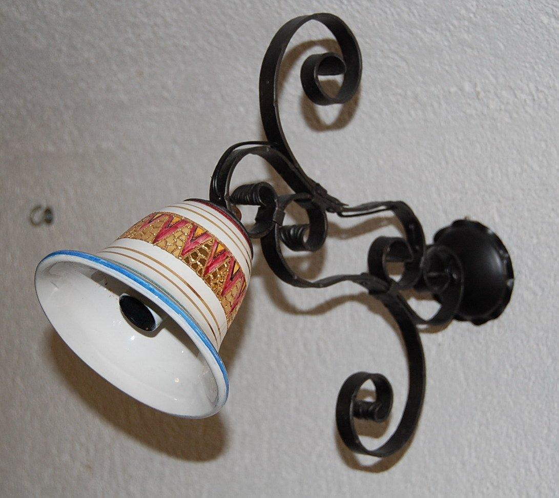 Goldene Vintage Wandlampe