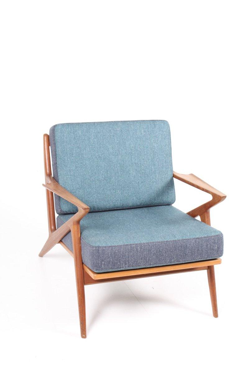 mid century sessel mit gestell aus teak von poul jensen f r chr jensen m belsnedkeri bei pamono. Black Bedroom Furniture Sets. Home Design Ideas