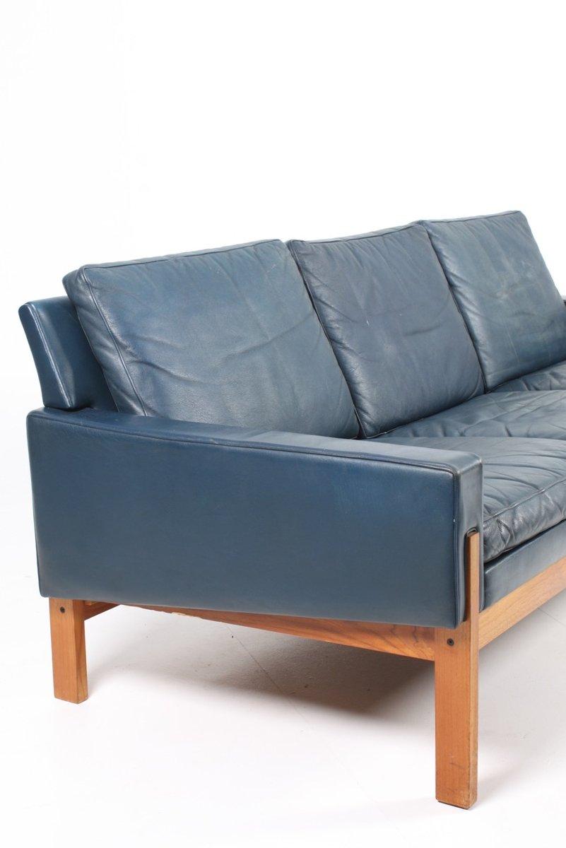Blue Leather Sofa 1960s 8 Sek 17 856 00