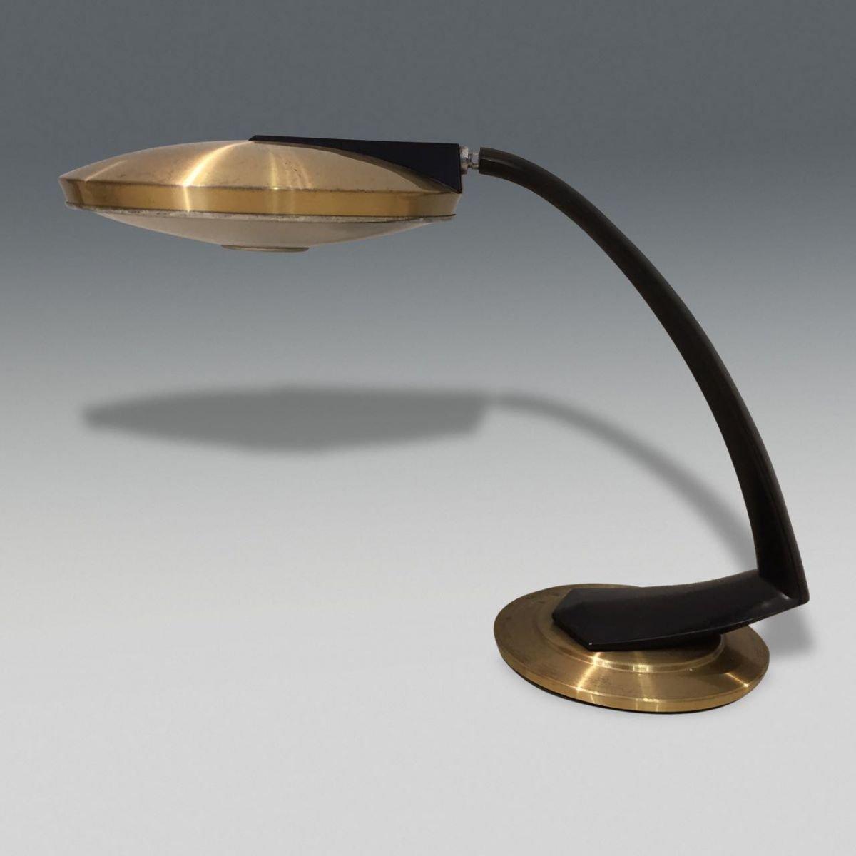 Vintage Boomerang Tischlampe von Fase, 1970er