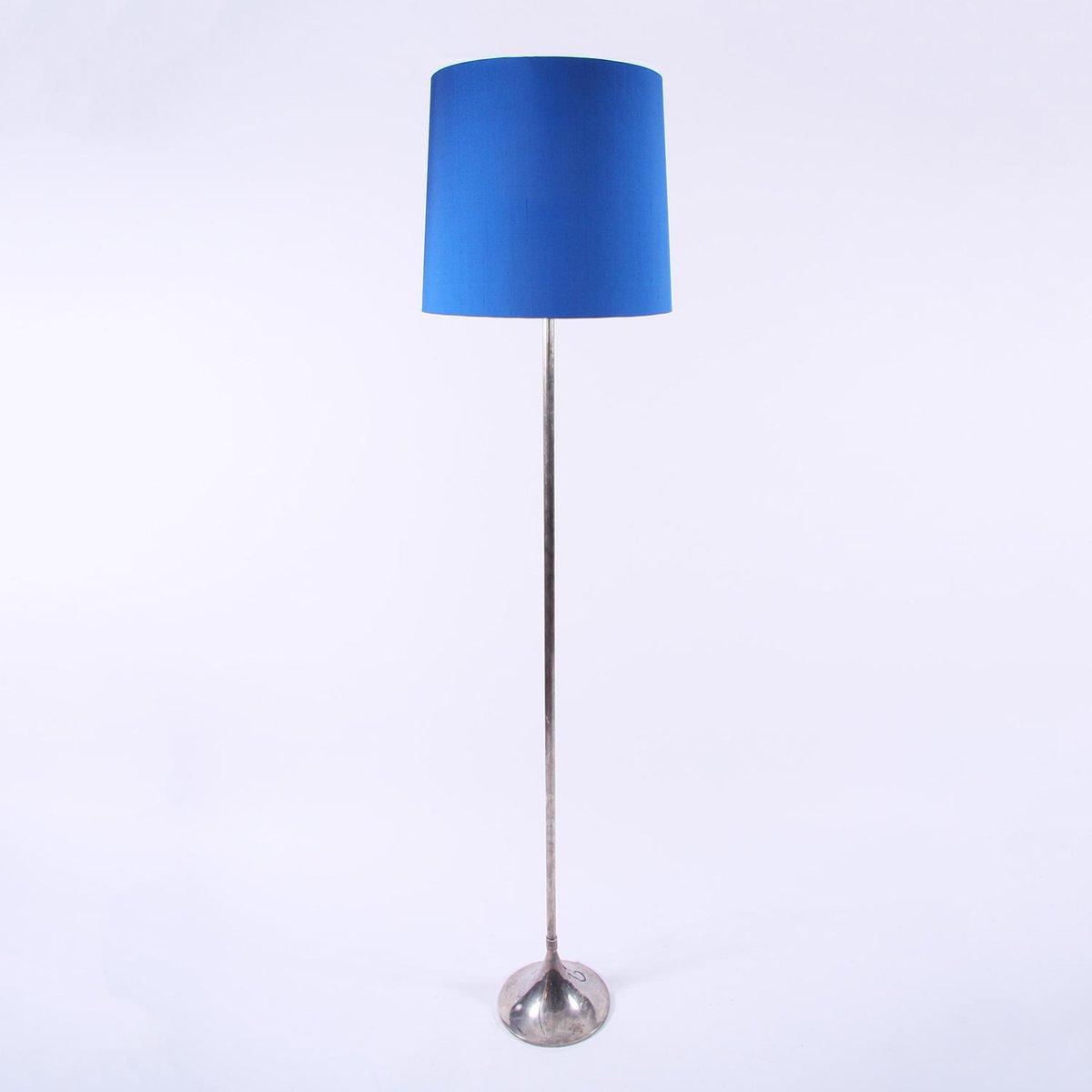 Versilberte Vintage Stehlampe