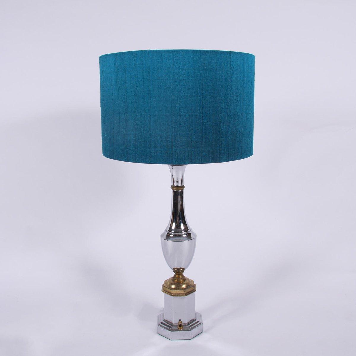 Mid-Century Tischlampen aus Chrom, 2er Set