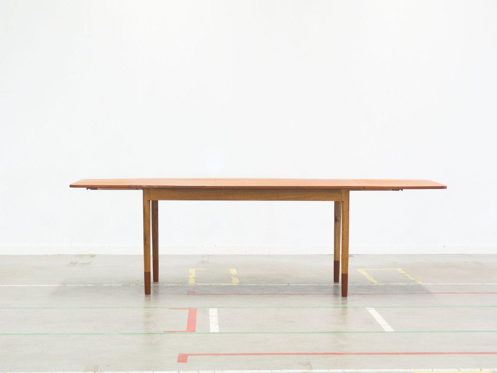 Esstisch aus Teak & Eiche von A/S Randers Møbelfabrik