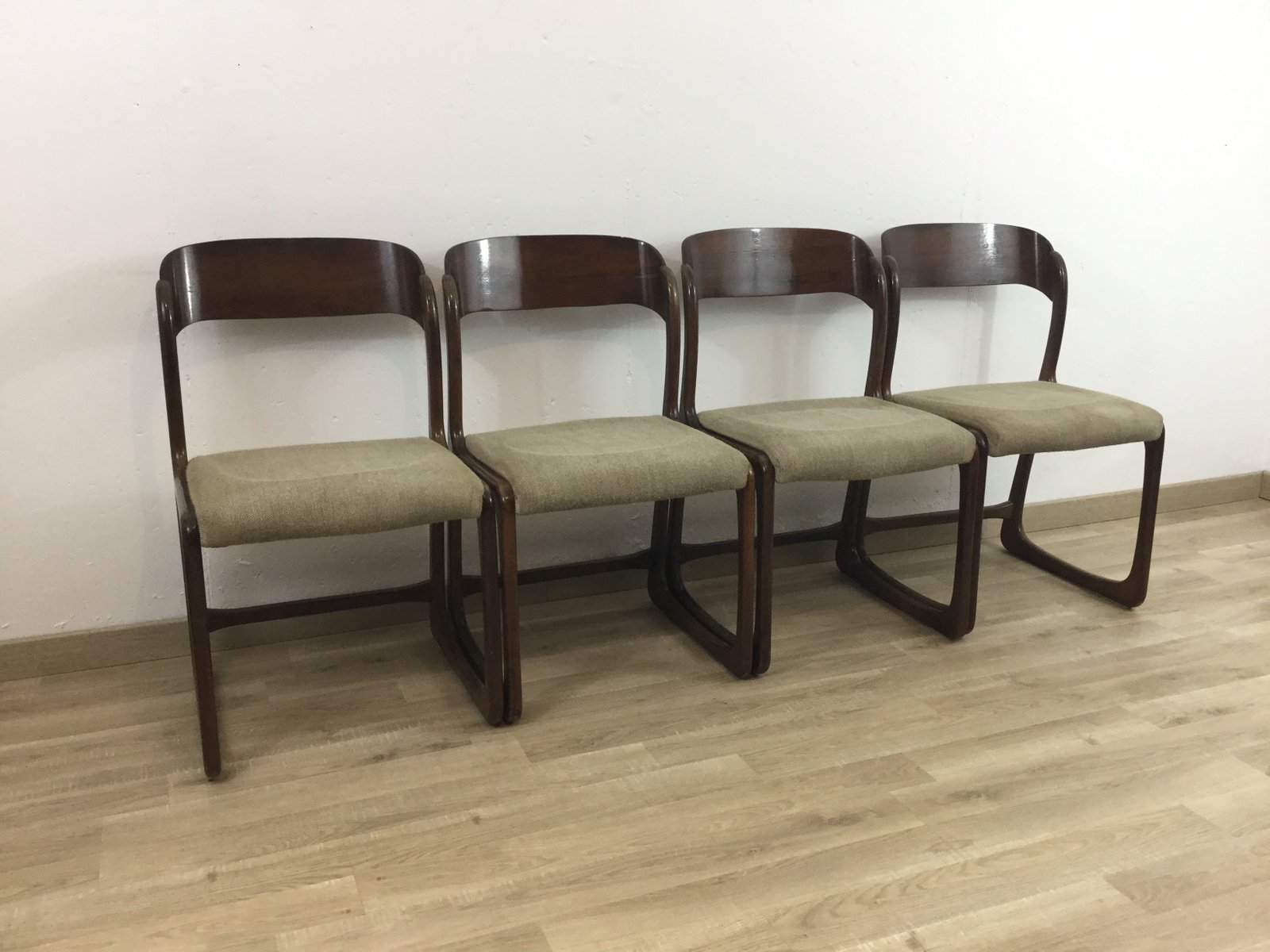 sled st hle von baumann 1960er 4er set bei pamono kaufen. Black Bedroom Furniture Sets. Home Design Ideas