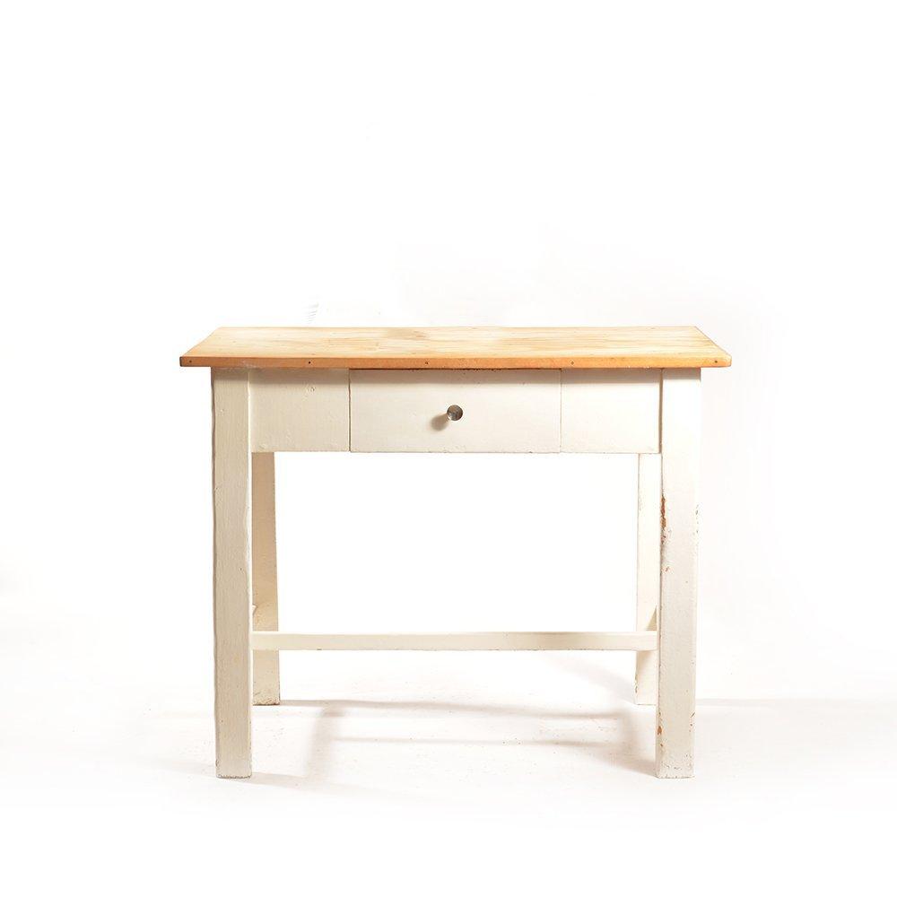 Bauerntisch mit Schublade, 1950er