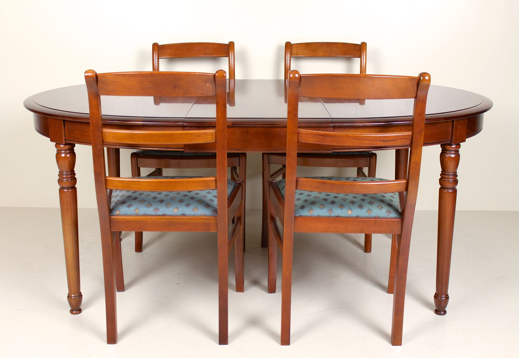 Vintage Mahogany Dining Table & 4 Chairs