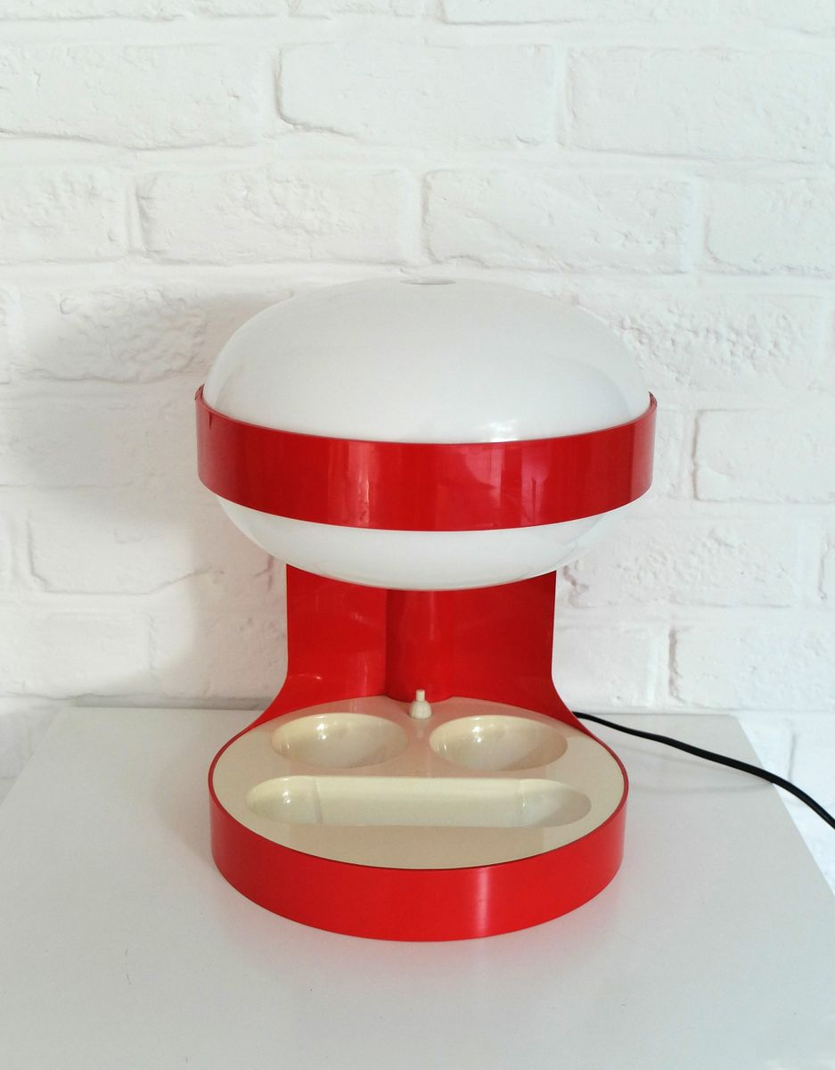 Rote KD29 Tischlampe von Joe Colombo für Kartell, 1967