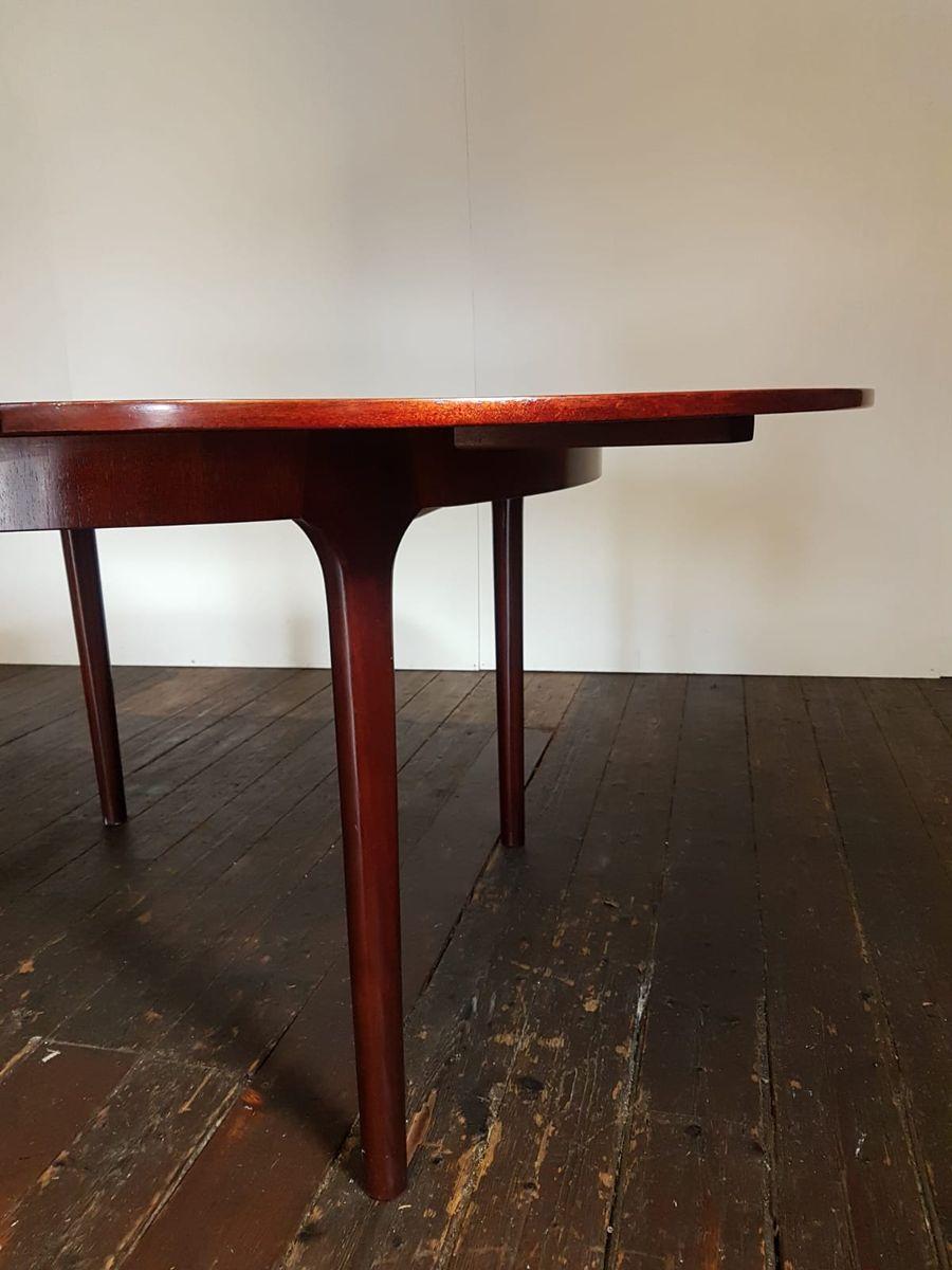 ausziehbarer runder mid century esstisch aus palisander von mcintosh 1970er bei pamono kaufen. Black Bedroom Furniture Sets. Home Design Ideas