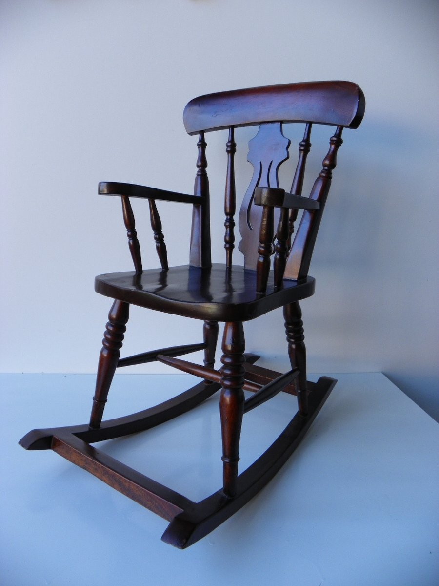 Groovy Small Vintage Wooden Rocking Chair Ibusinesslaw Wood Chair Design Ideas Ibusinesslaworg