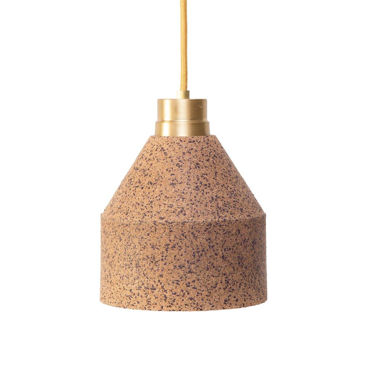70 WS Lampe aus Naturkork mit bordeauxfarbenen Punkten von Paula Corra...