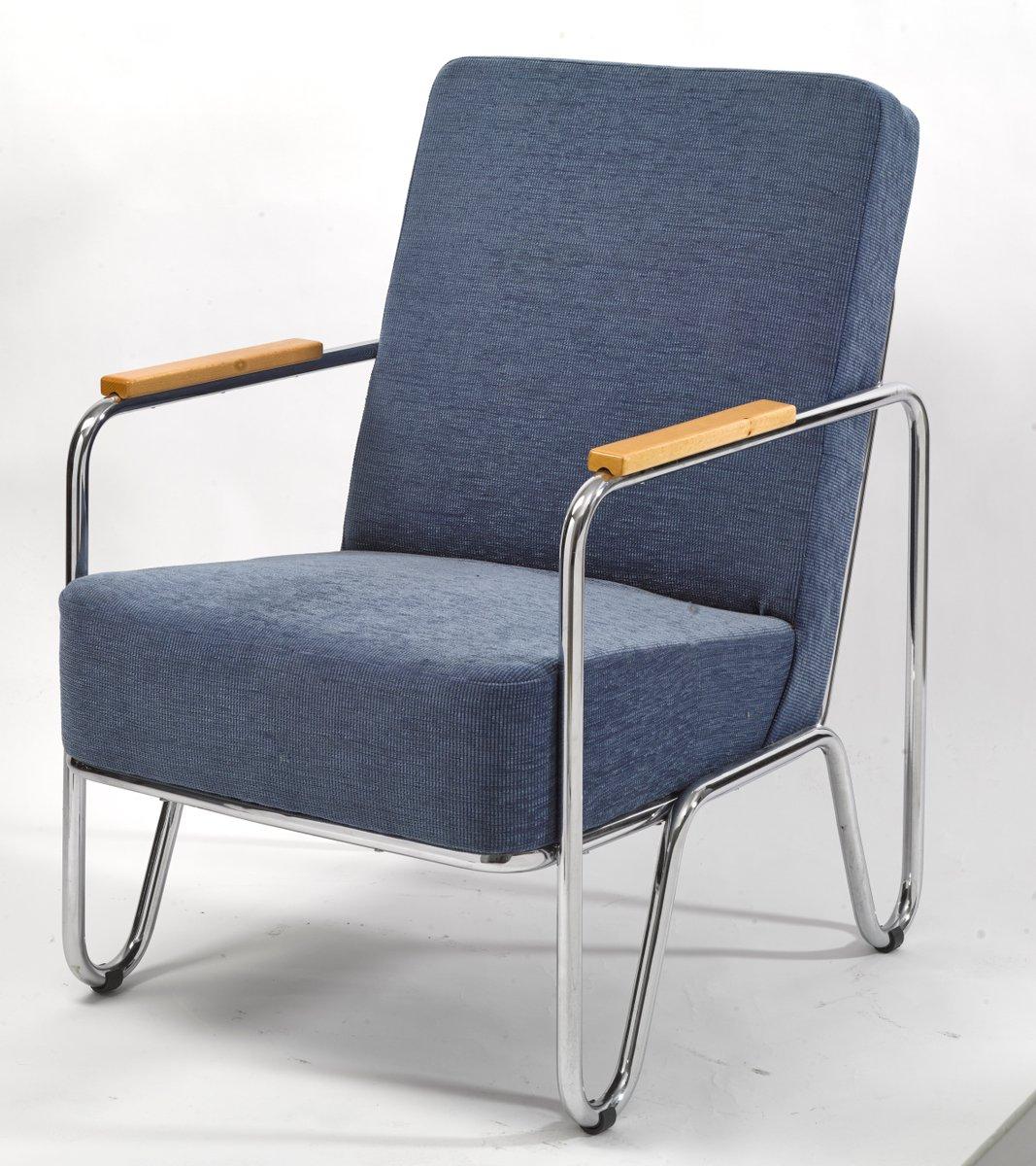 Vaclav Blue Armchair by Kovonax for Slezak