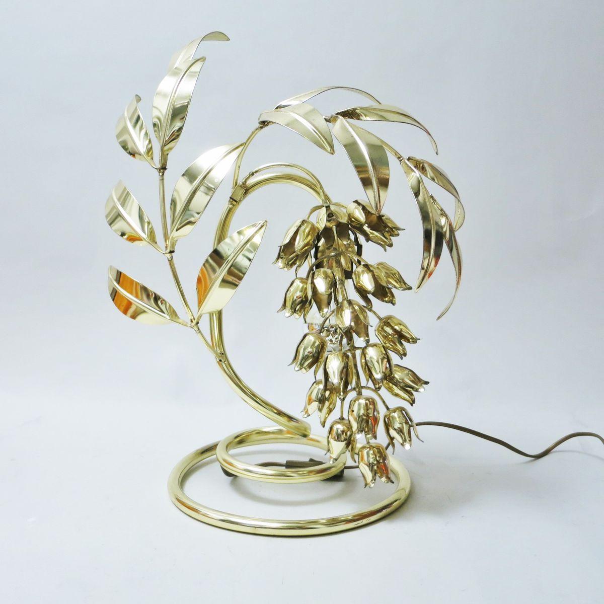 Lampe in Blumen-Optik von Hans Kögl, 1970er