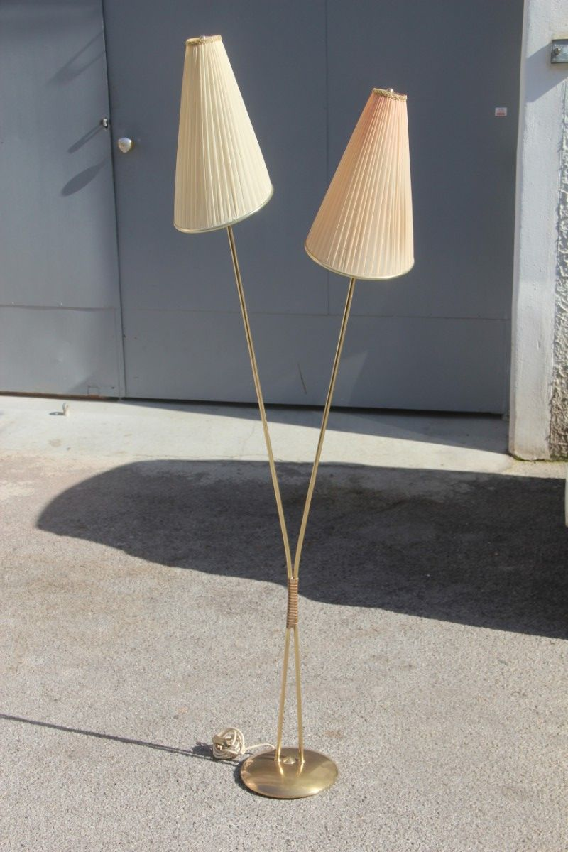 Mid-Century French Brass Floor Lamp