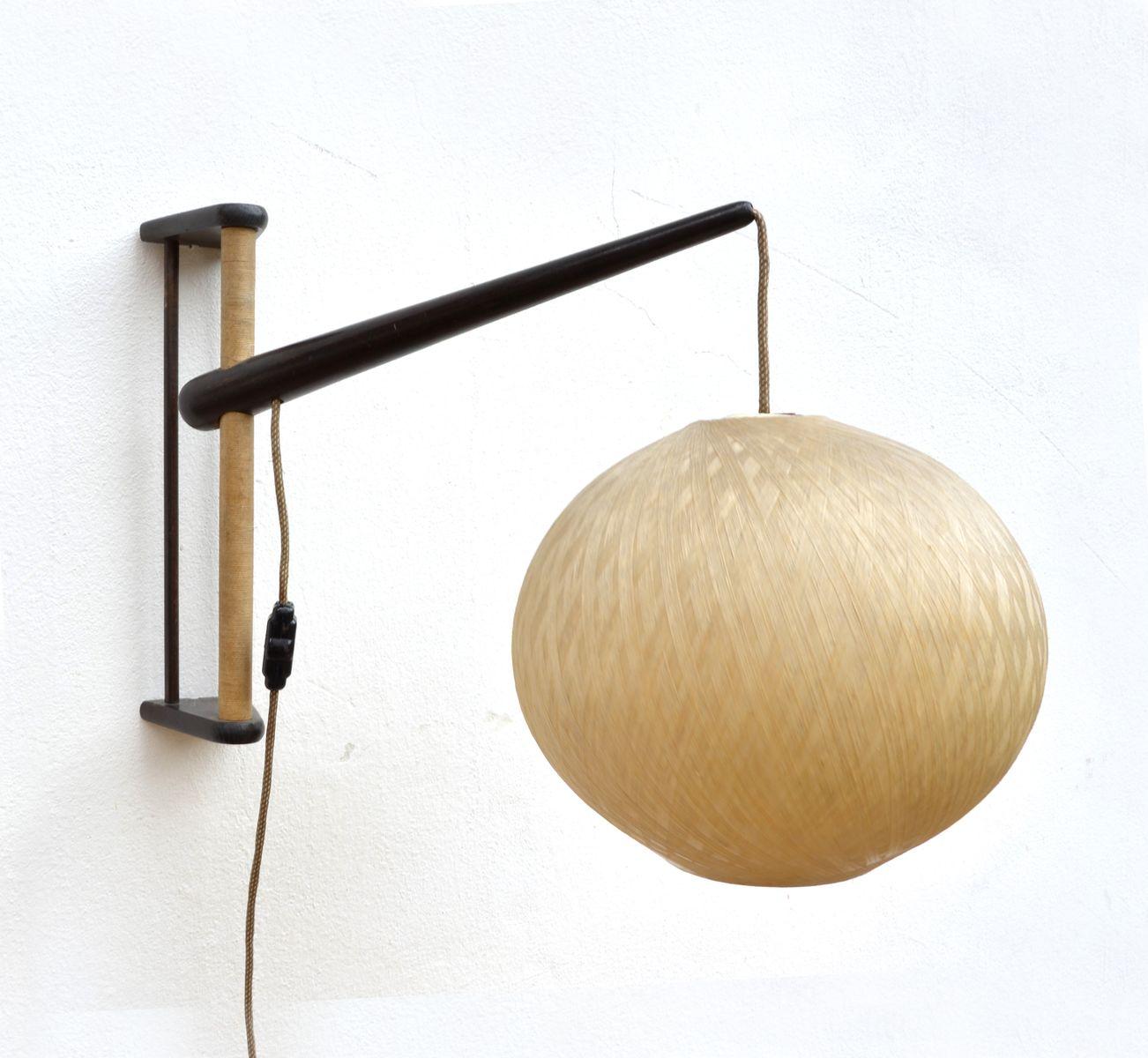 Verstellbare tschechische Wandlampe, 1960er