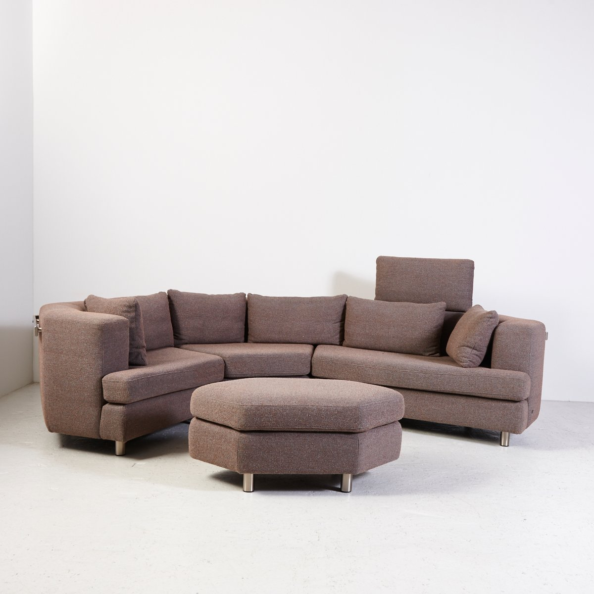 Model 200 Leather Modular Sofa From Rolf Benz, 1970s For