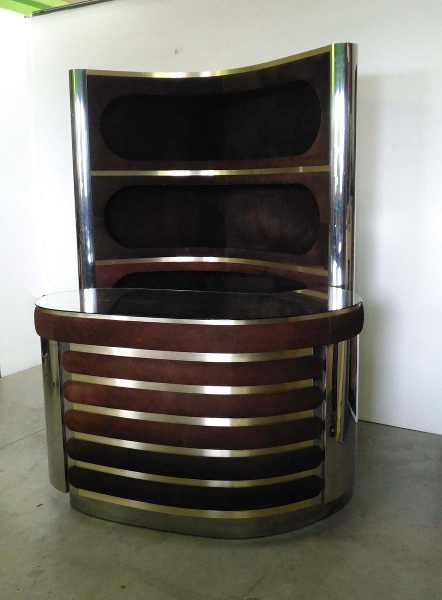 Mobile Bar von Willy Rizzo, 1960er   Küche und Esszimmer > Bar-Möbel > Bars   Silber   Stahl