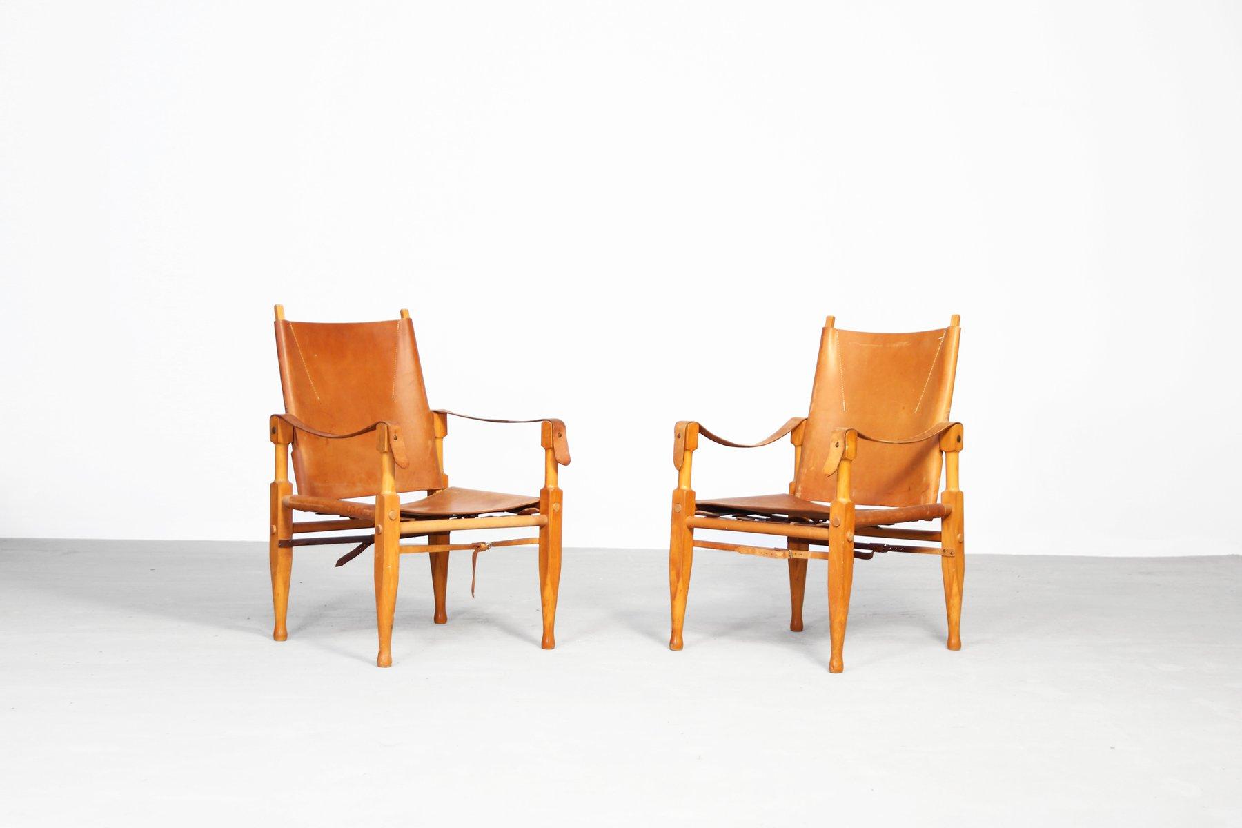 Safari Lounge Chairs by Wilhelm Kienzle for Wohnbedarf, 1950s, Set of ...