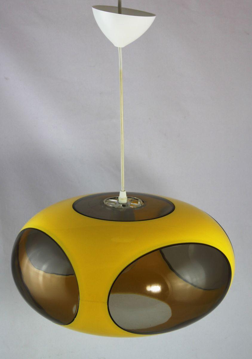 Yellow UFO Lamp by Luigi Colani, 1970s