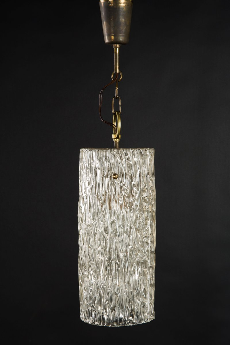 Structured Glass Pendant from Kalmar, 1950s
