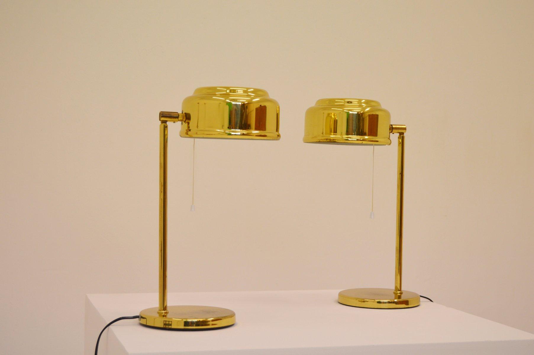 Lampade da tavolo moderne in ottone, Scandinavia, anni \'60, set di 2 ...