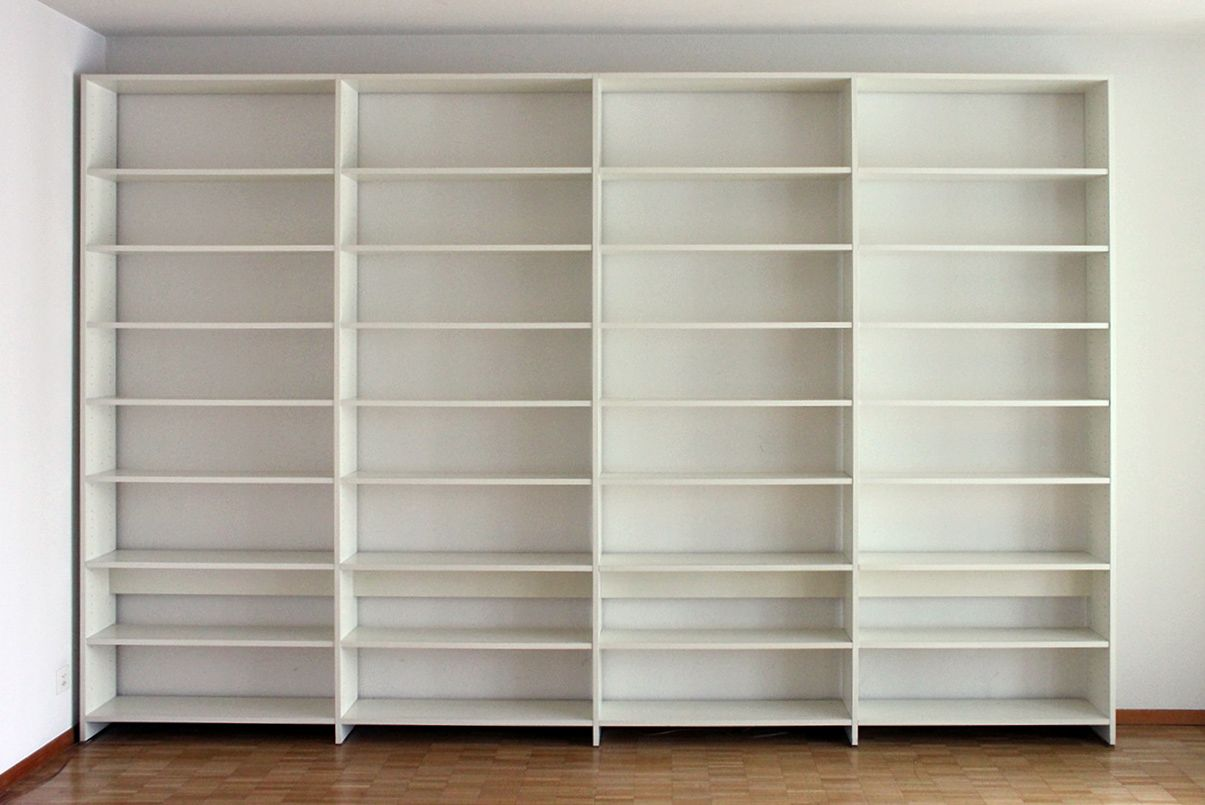 Large White Bookshelf By Ulrich P Wieser For Wohnbedarf 1980s