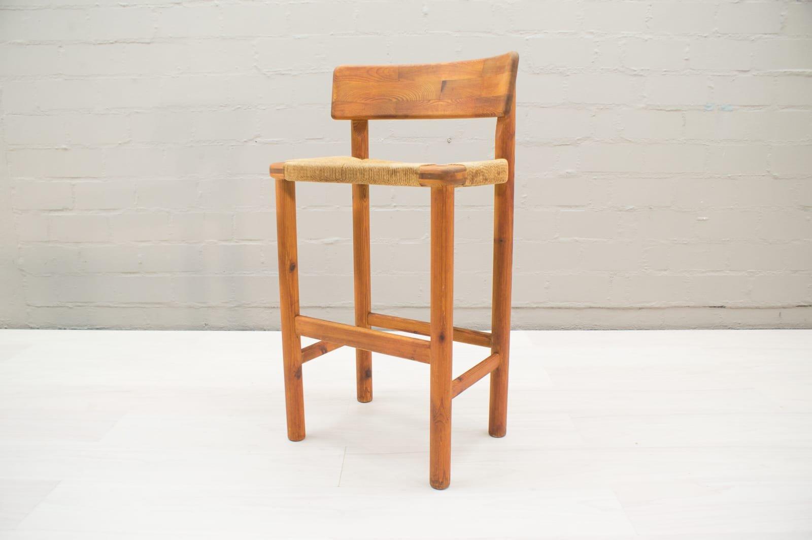 Scandinavian Wooden Bar Stools 1960s Set Of 2