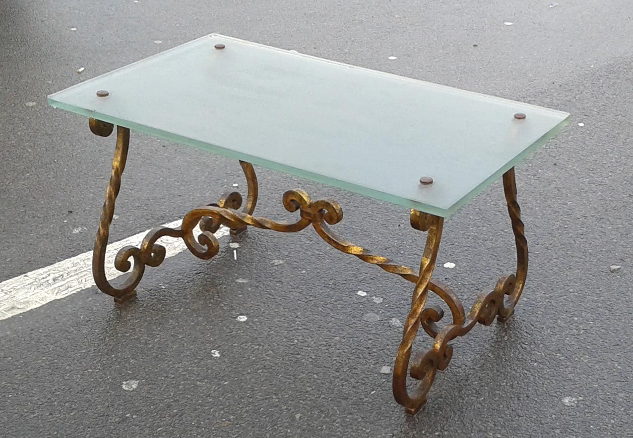 Wrought iron table 1940s 5 €550 00