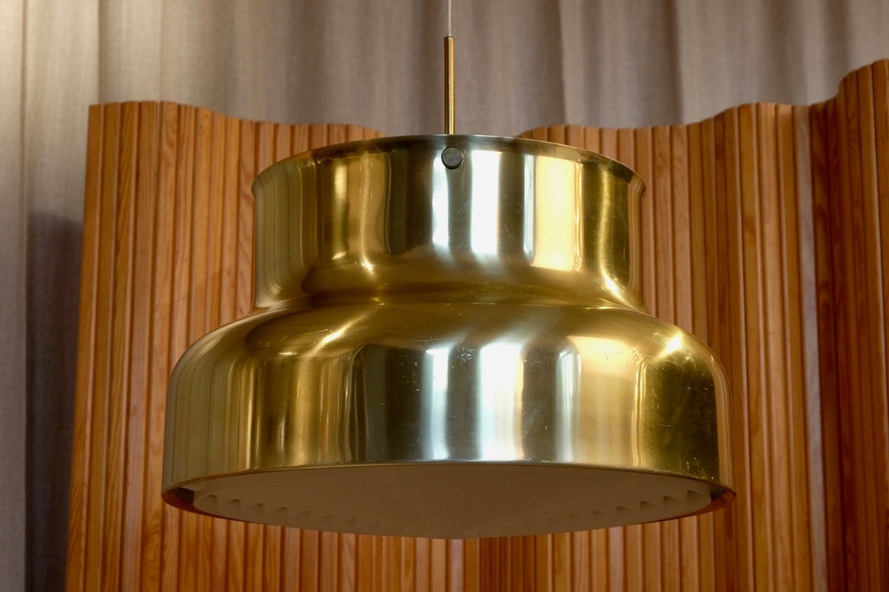 Large Bumling Brass Pendant by Anders Pehrson for Atélje Lyktan, 1960s