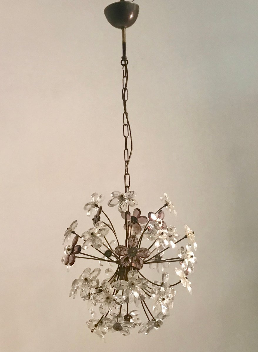 Vintage Murano Flower Pendant