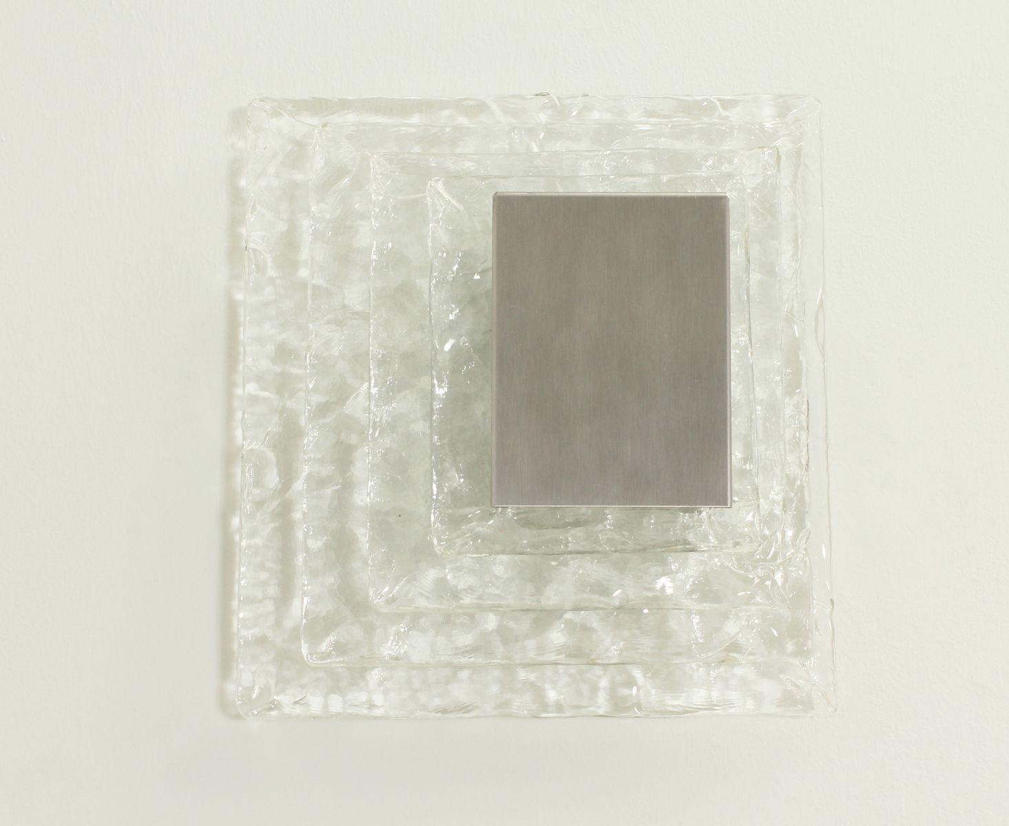 Quadratische Wandlampe von Carlo Nason für Mazzega, 1970er