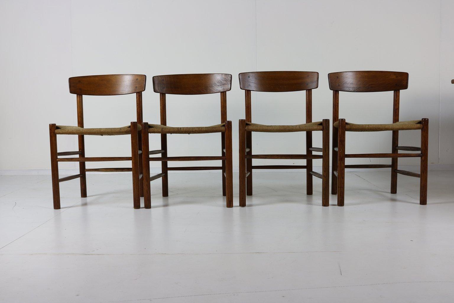 Shaker J39 Dinner Chairs By Børge Mogensen For FDB, 1959