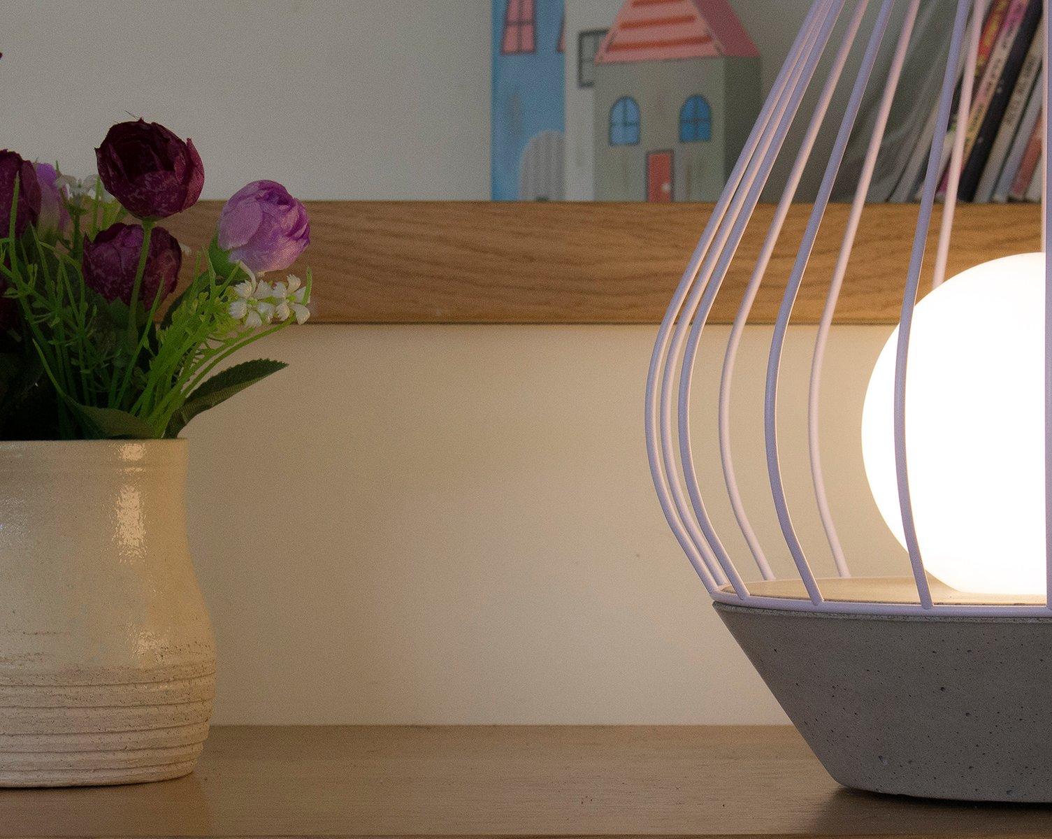 Lampada Scrivania Viola : Lampada da tavolo diamond della serie ova con gabbia in metallo