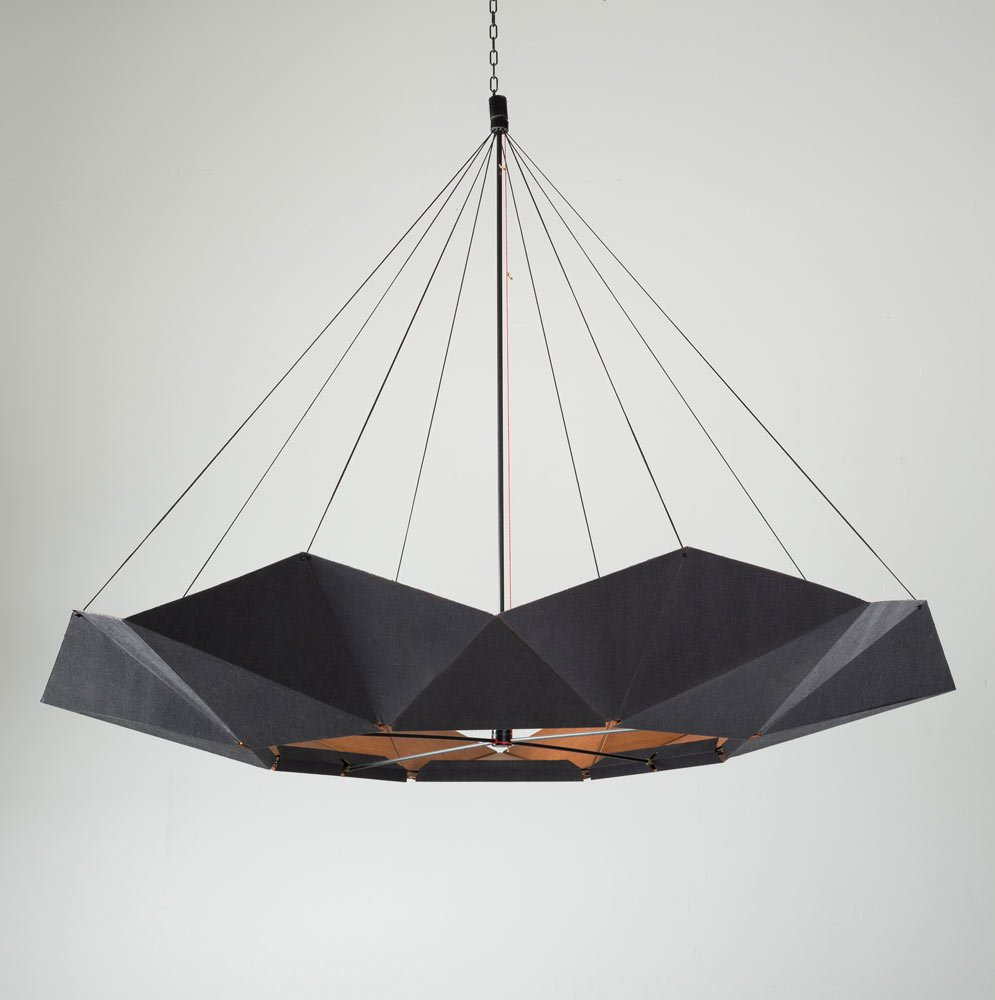 Inmoov Adjustable Black Pendant Lamp By Studio Nina Lieven For Sale