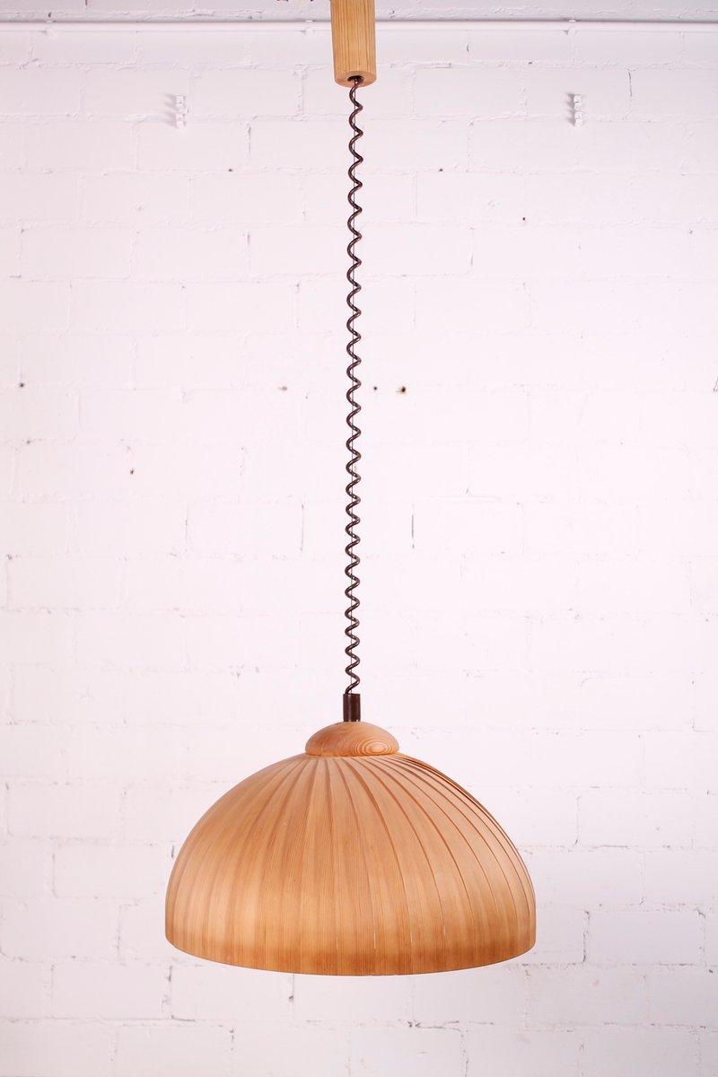 schwedische lampe aus holz 1960er bei pamono kaufen. Black Bedroom Furniture Sets. Home Design Ideas