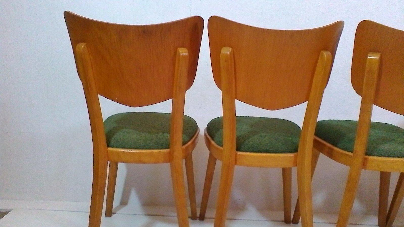 Esszimmerst hle von thonet 1960er 4er set bei pamono kaufen for Thonet esszimmerstuhle