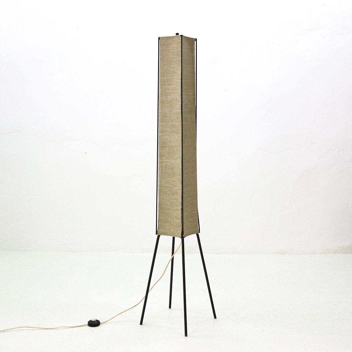 Moderne minimalistische Mid-Century Stehlampe, 1950er