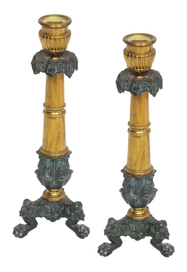 Antike French Empire Kerzenständer, 2er Set