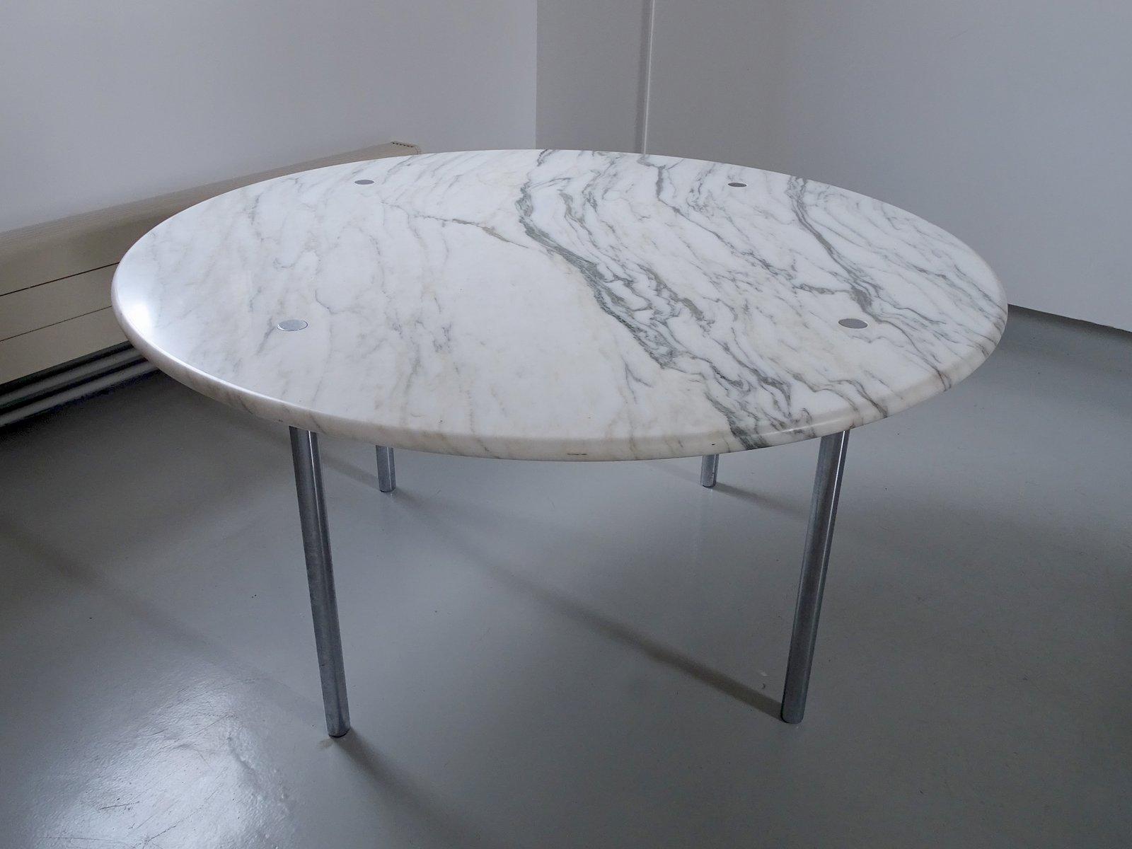 Großer Esstisch aus Carrara Marmor von Estelle & Erwin Laverne für Lav...