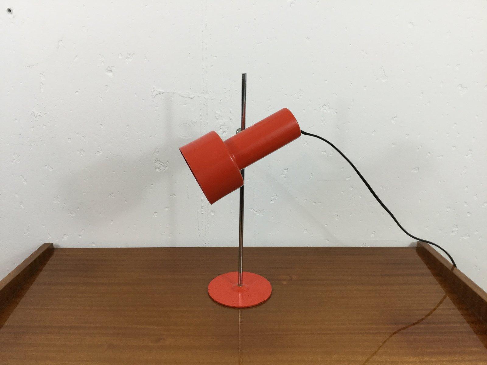 Rote Vintage Tischlampe aus Metall, 1970er