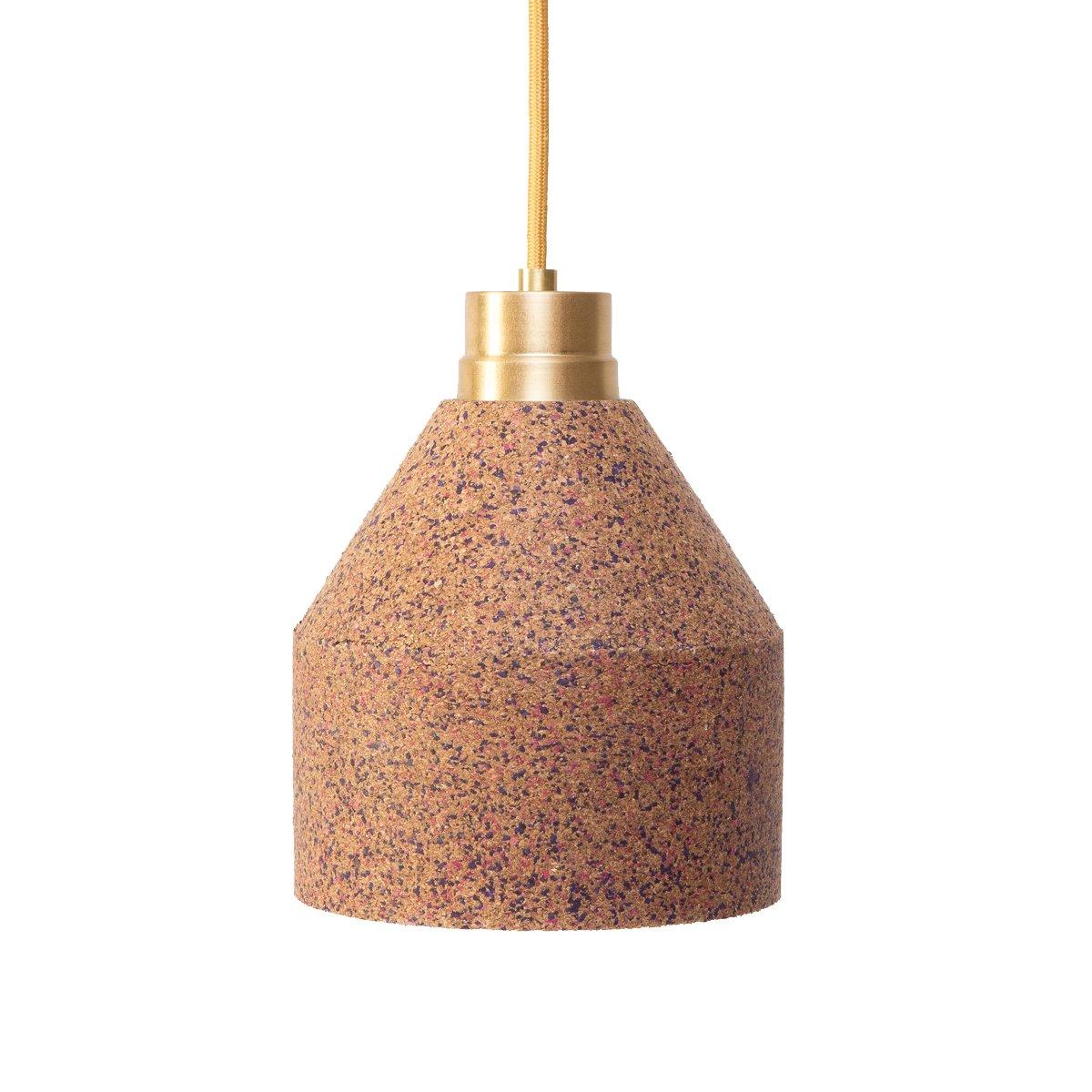 70 WS Lampe aus Naturkork mit Punktemuster in Bordeaux & Pink von Paul...