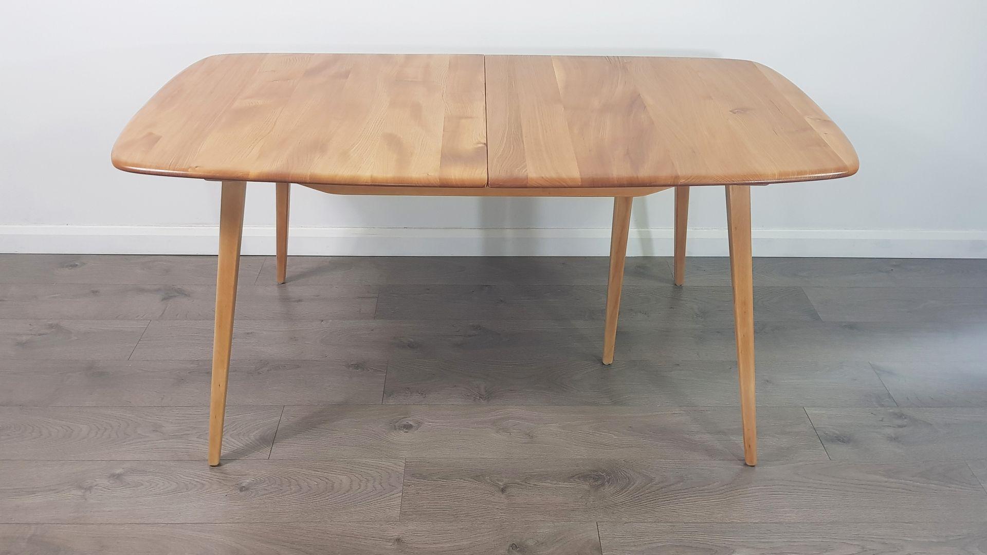 Mid-Century ausziehbarer Plank Tisch von Lucian Ercolani für Ercol, 19...