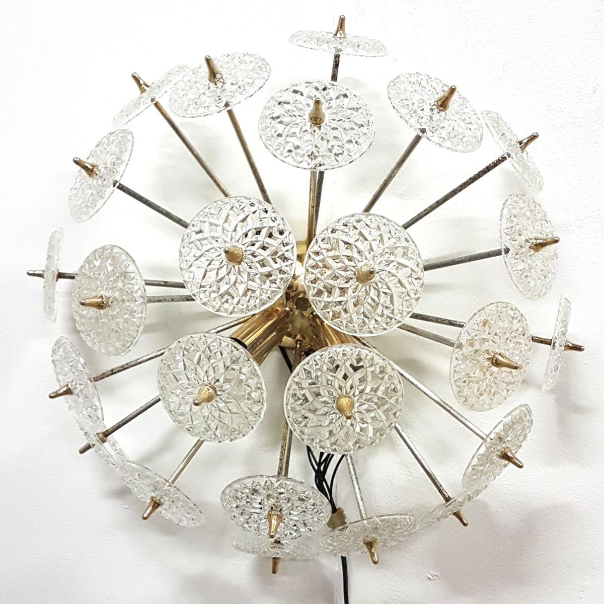 Belgische Vintage Sputnik Wandlampe von Massive Lighting, 1970er