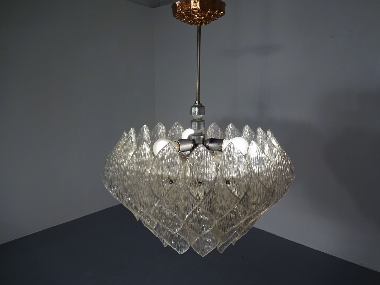 Große Space Age Lampe aus Plexiglas, 1970er