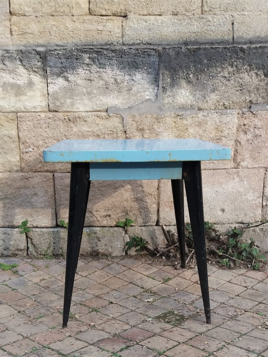 Xavier pauchard french industrial dining room furniture Side Table French Industrial Table By Xavier Pauchard For Tolix 1940s Pamono French Industrial Table By Xavier Pauchard For Tolix 1940s For Sale