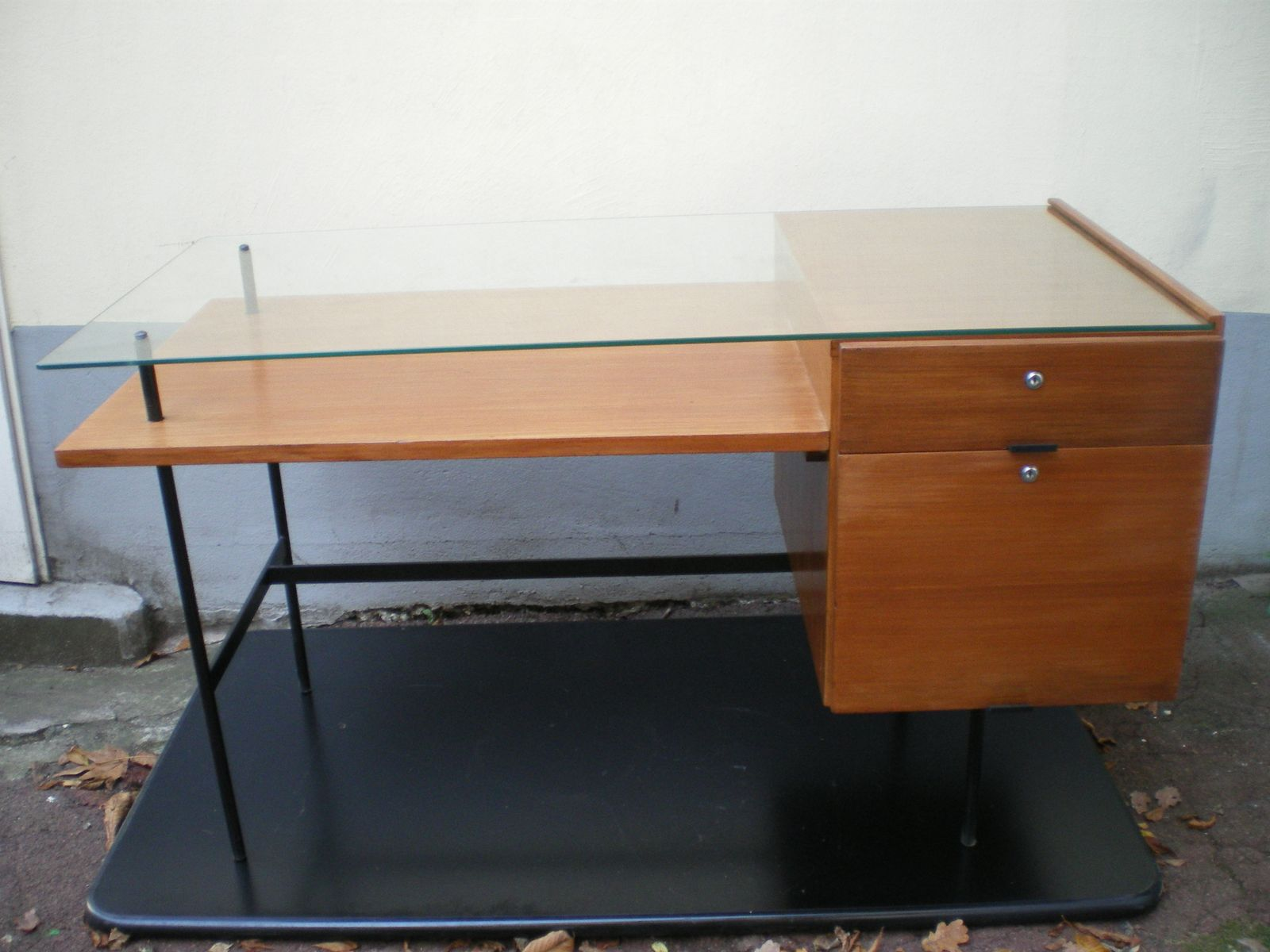 Double sided desk 1950s