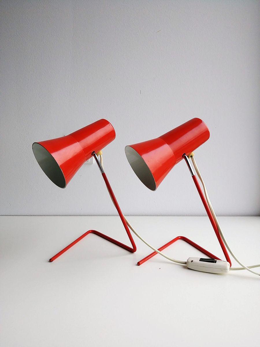 Vintage Modell 21616 Tischlampen von Josef Hurka für Drupol, 2er Set