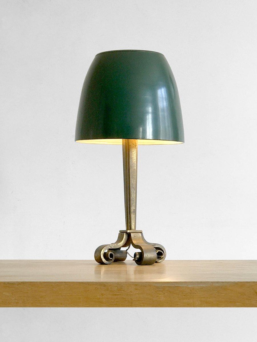 Art Deco Tischlampe aus Bronze von Raymond Subes, 1930er